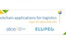 Aplicaciones blockchain para seminarios web logísticos