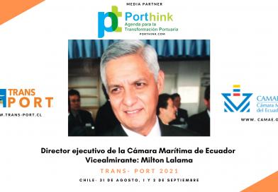 Director ejecutivo de Camae: Trans- Port permite compartir los avances de cada nación en digitalización y sustentabilidad de los puertos.