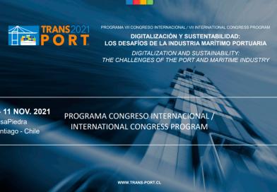 9 al 11 de noviembre: Congreso Internacional TransPort 2021 tendrá ala digitalización y la sustentabilidad como temas centrales